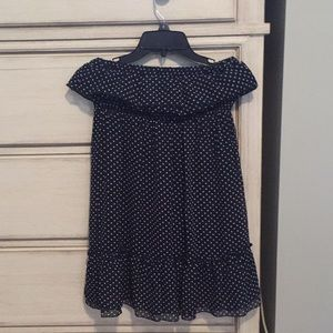 Cute strapless dress with ruffle hem